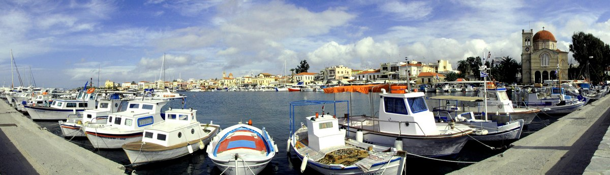 Aegina harbor Greece