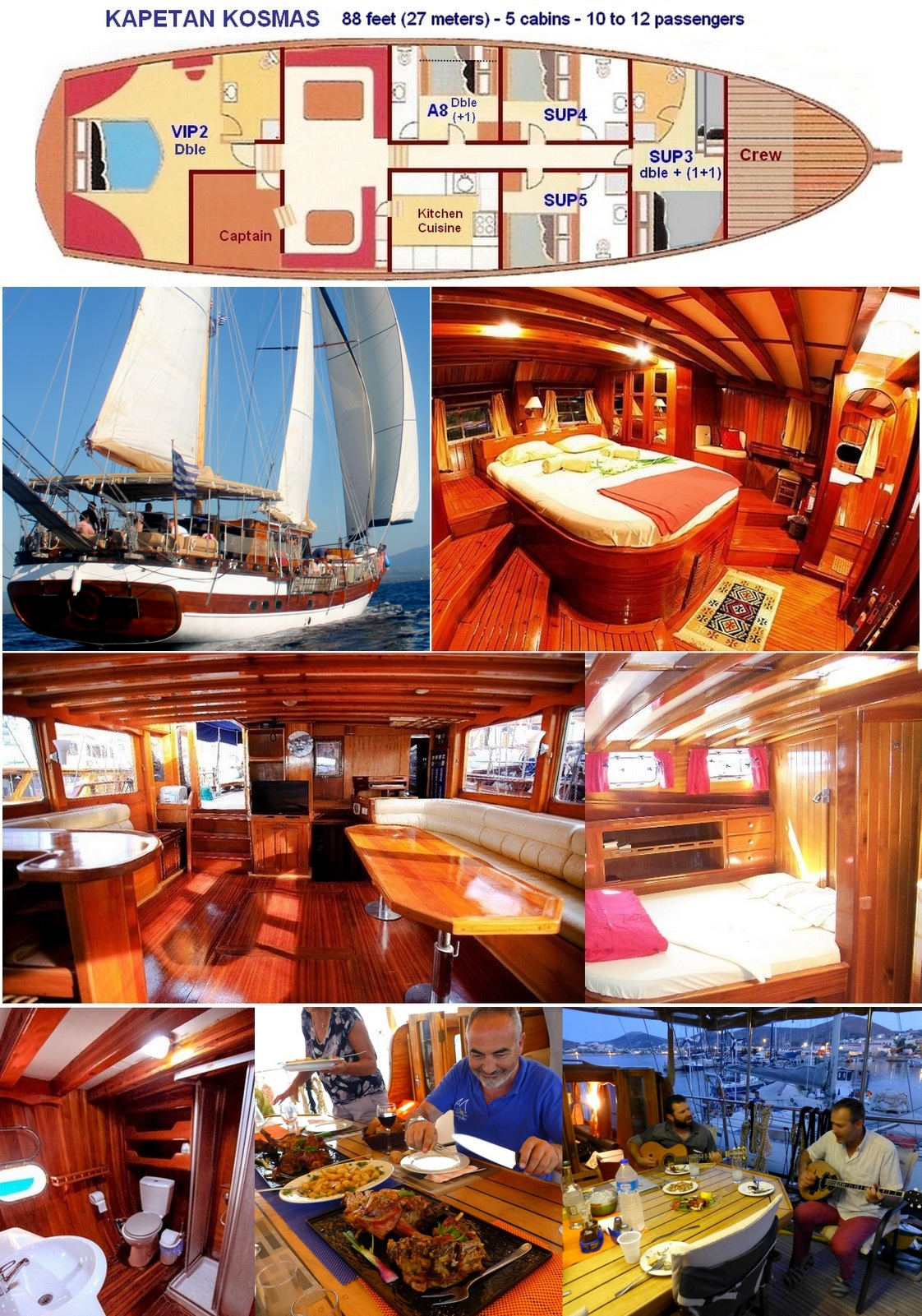 shared yacht cabins Sporades