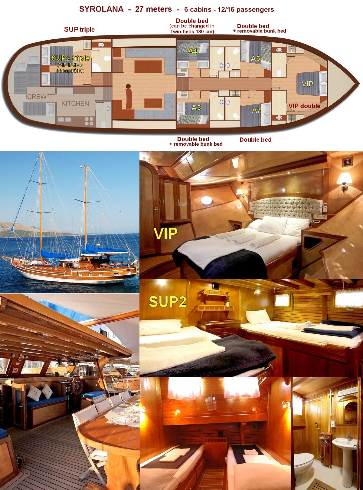 shared yacht greek islands cabins